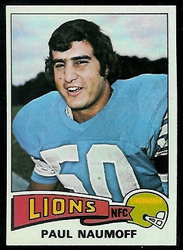 Paul Naumoff 1975 Topps football card