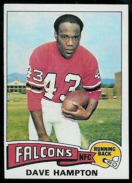 Dave Hampton 1975 Topps football card