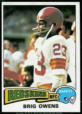 Brig Owens 1975 Topps football card