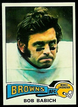 Bob Babich 1975 Topps football card