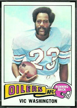 Vic Washington 1975 Topps football card