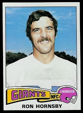 Ron Hornsby 1975 Topps football card