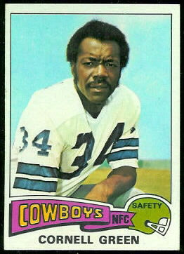 Cornell Green 1975 Topps football card