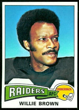 Willie Brown 1975 Topps football card