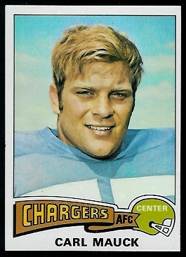 Carl Mauck 1975 Topps football card