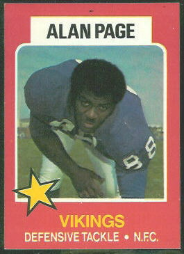 Alan Page 1975 Wonder Bread football card