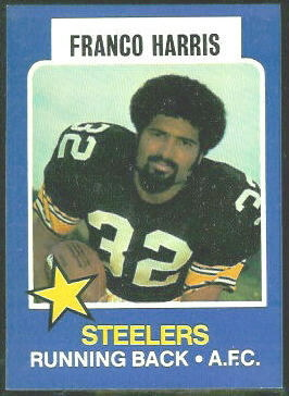 Franco Harris 1975 Wonder Bread football card