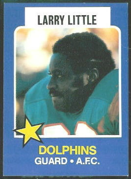 Larry Little 1975 Wonder Bread football card