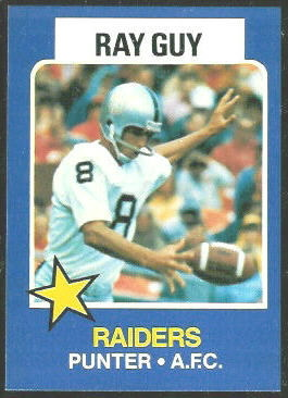 Ray Guy 1975 Wonder Bread football card