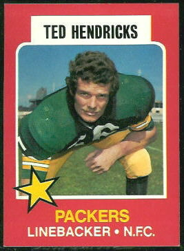 Ted Hendricks 1975 Wonder Bread football card