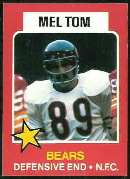 Mel Tom 1975 Wonder Bread football card