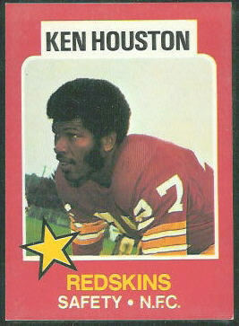 Ken Houston 1975 Wonder Bread football card