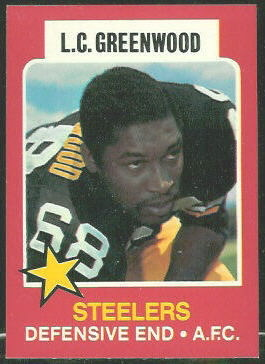 L.C. Greenwood 1975 Wonder Bread football card