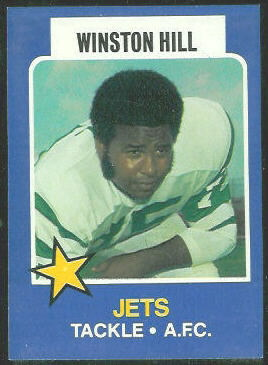 Winston Hill 1975 Wonder Bread football card