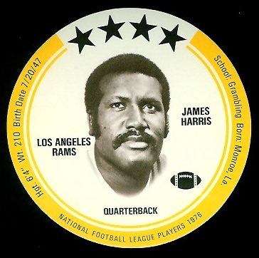 James Harris 1976 Buckmans Discs football card
