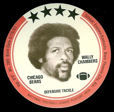 Wally Chambers 1976 Buckmans Discs football card