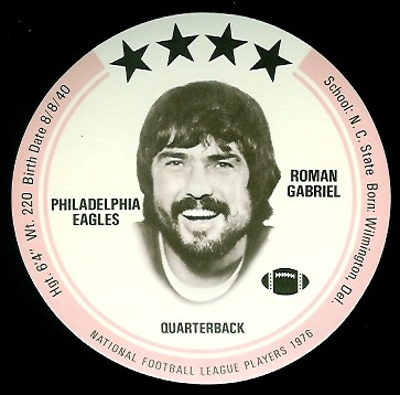 Roman Gabriel 1976 Buckmans Discs football card