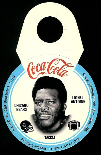 Lionel Antoine 1976 Coke Bears Discs football card