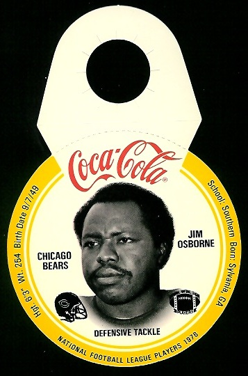 Jim Osborne 1976 Coke Bears Discs football card