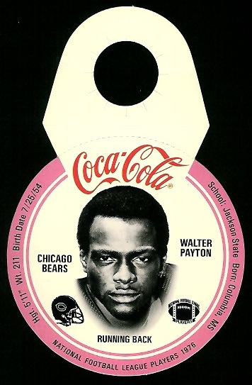 Walter Payton 1976 Coke Bears Discs football card