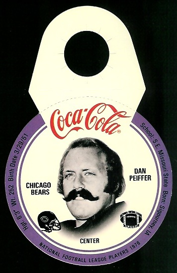 Dan Peiffer 1976 Coke Bears Discs football card