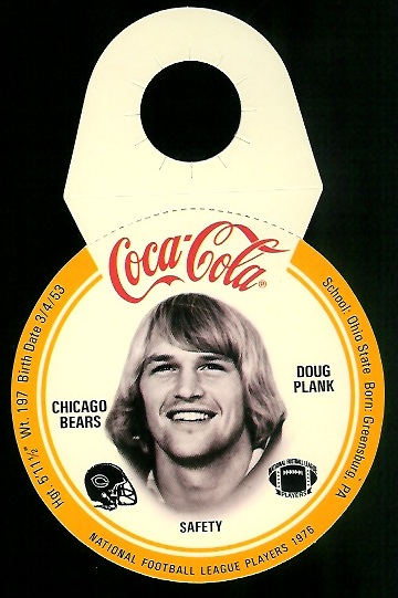 Doug Plank 1976 Coke Bears Discs football card