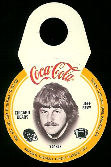 Jeff Sevy 1976 Coke Bears Discs football card