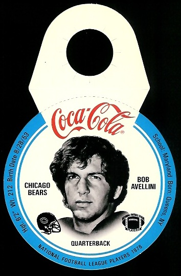 Bob Avellini 1976 Coke Bears Discs football card