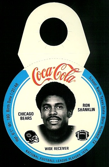 Ron Shanklin 1976 Coke Bears Discs football card