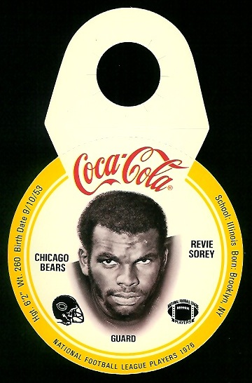 Revie Sorey 1976 Coke Bears Discs football card