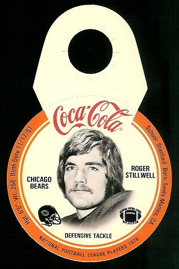 Roger Stillwell 1976 Coke Bears Discs football card