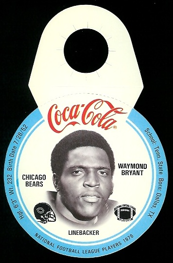 Waymond Bryant 1976 Coke Bears Discs football card