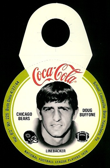 Doug Buffone 1976 Coke Bears Discs football card