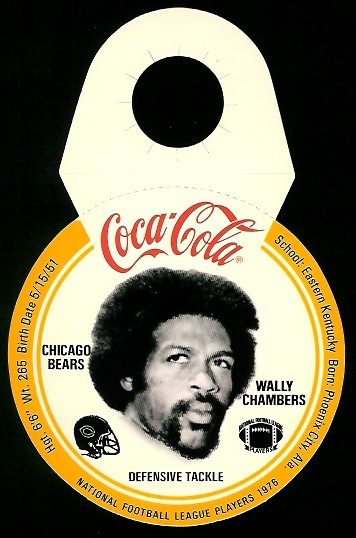 Wally Chambers 1976 Coke Bears Discs football card
