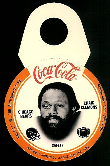 Craig Clemons 1976 Coke Bears Discs football card