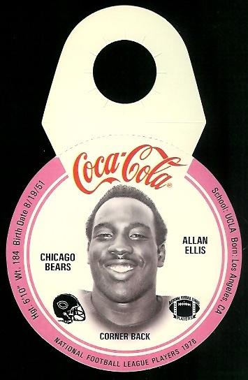 Allan Ellis 1976 Coke Bears Discs football card