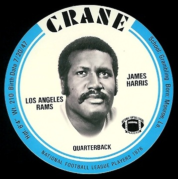 James Harris 1976 Crane Discs football card