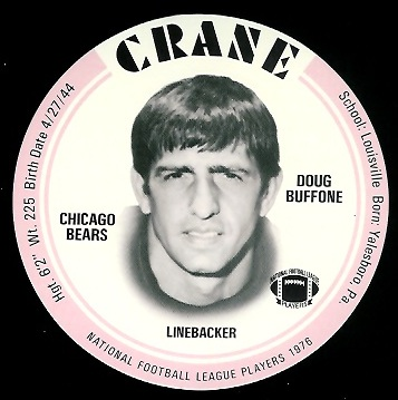 Doug Buffone 1976 Crane Discs football card