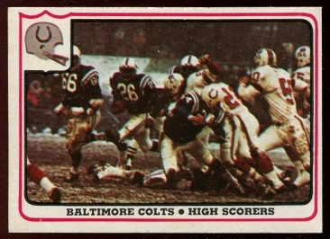 Baltimore Colts - High Scorers 1976 Fleer Team Action football card