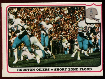Houston Oilers - Short Zone Flood 1976 Fleer Team Action football card