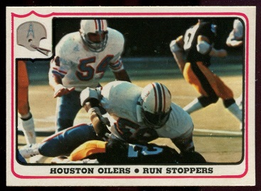 Houston Oilers - Run Stoppers 1976 Fleer Team Action football card