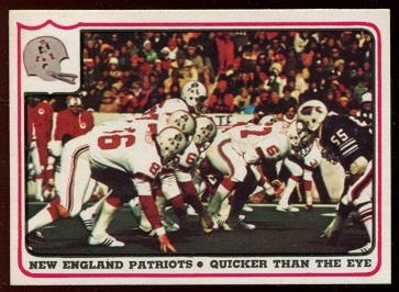 New England Patriots - Quicker Than the Eye 1976 Fleer Team Action football card