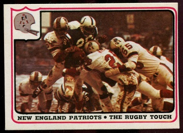 New England Patriots - The Rugby Touch 1976 Fleer Team Action football card