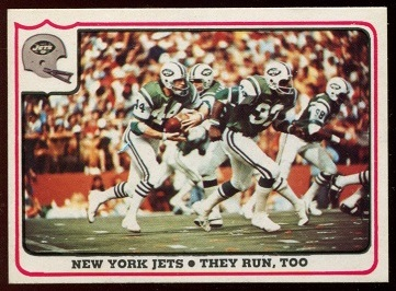 New York Jets - They Run, Too 1976 Fleer Team Action football card
