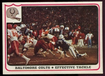 Baltimore Colts - Effective Tackle 1976 Fleer Team Action football card