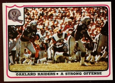 Oakland Raiders - A Strong Offense 1976 Fleer Team Action football card