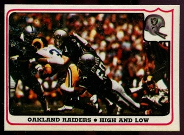 Oakland Raiders - High and Low 1976 Fleer Team Action football card