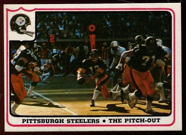 Pittsburgh Steelers - The Pitch-Out 1976 Fleer Team Action football card