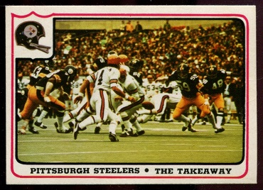 Pittsburgh Steelers - The Takeaway 1976 Fleer Team Action football card