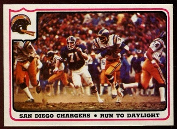 San Diego Chargers - Run to Daylight 1976 Fleer Team Action football card